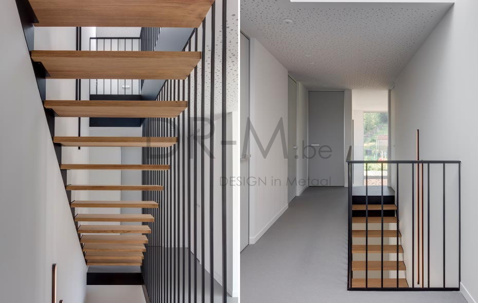 Moderne Trap in Metaal, Designtrap, metalen trap